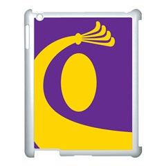 Flag Purple Yellow Circle Apple Ipad 3/4 Case (white) by Alisyart