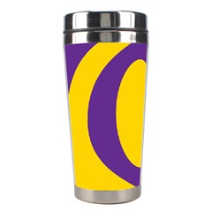 Flag Purple Yellow Circle Stainless Steel Travel Tumblers by Alisyart