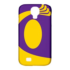 Flag Purple Yellow Circle Samsung Galaxy S4 Classic Hardshell Case (pc+silicone) by Alisyart