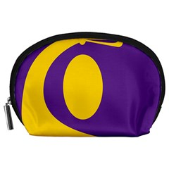 Flag Purple Yellow Circle Accessory Pouches (large)  by Alisyart