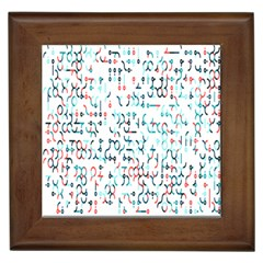 Connect Dots Color Rainbow Blue Red Circle Line Framed Tiles by Alisyart