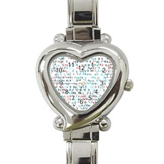 Connect Dots Color Rainbow Blue Red Circle Line Heart Italian Charm Watch by Alisyart