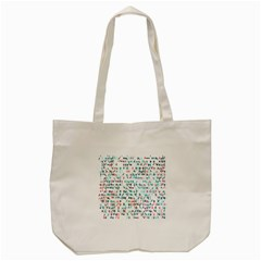 Connect Dots Color Rainbow Blue Red Circle Line Tote Bag (cream) by Alisyart