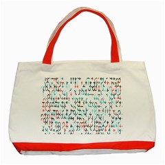 Connect Dots Color Rainbow Blue Red Circle Line Classic Tote Bag (red) by Alisyart