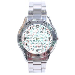 Connect Dots Color Rainbow Blue Red Circle Line Stainless Steel Analogue Watch by Alisyart