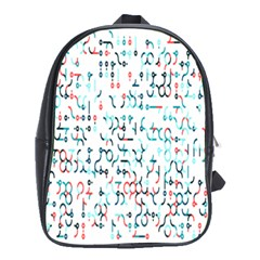 Connect Dots Color Rainbow Blue Red Circle Line School Bags (xl)  by Alisyart