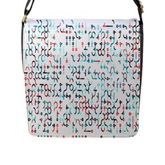 Connect Dots Color Rainbow Blue Red Circle Line Flap Messenger Bag (l)  by Alisyart