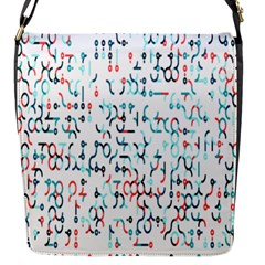 Connect Dots Color Rainbow Blue Red Circle Line Flap Messenger Bag (s)