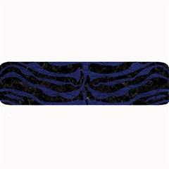 Skin2 Black Marble & Blue Leather Large Bar Mat by trendistuff
