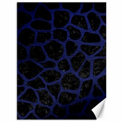 Skin1 Black Marble & Blue Leather (r) Canvas 36  X 48