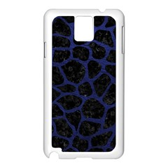 Skin1 Black Marble & Blue Leather (r) Samsung Galaxy Note 3 N9005 Case (white) by trendistuff