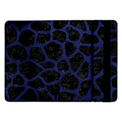 Skin1 Black Marble & Blue Leather (r) Samsung Galaxy Tab Pro 12 2  Flip Case by trendistuff