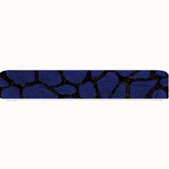 Skin1 Black Marble & Blue Leather Small Bar Mat by trendistuff