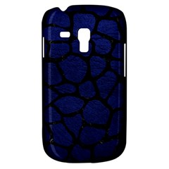 Skin1 Black Marble & Blue Leather Samsung Galaxy S3 Mini I8190 Hardshell Case by trendistuff