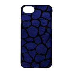 Skin1 Black Marble & Blue Leather Apple Iphone 7 Hardshell Case by trendistuff