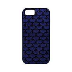 Scales3 Black Marble & Blue Leather (r) Apple Iphone 5 Classic Hardshell Case (pc+silicone) by trendistuff