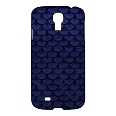 Scales3 Black Marble & Blue Leather (r) Samsung Galaxy S4 I9500/i9505 Hardshell Case by trendistuff