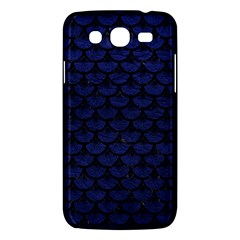 Scales3 Black Marble & Blue Leather (r) Samsung Galaxy Mega 5 8 I9152 Hardshell Case  by trendistuff