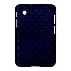 Scales3 Black Marble & Blue Leather (r) Samsung Galaxy Tab 2 (7 ) P3100 Hardshell Case  by trendistuff