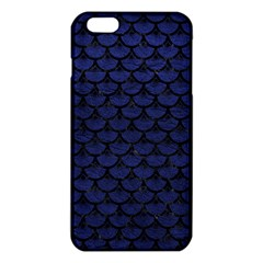 Scales3 Black Marble & Blue Leather (r) Iphone 6 Plus/6s Plus Tpu Case by trendistuff