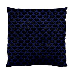 Scales3 Black Marble & Blue Leather Standard Cushion Case (one Side) by trendistuff