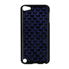 Scales3 Black Marble & Blue Leather Apple Ipod Touch 5 Case (black) by trendistuff