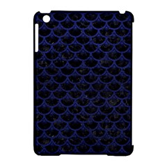 Scales3 Black Marble & Blue Leather Apple Ipad Mini Hardshell Case (compatible With Smart Cover) by trendistuff