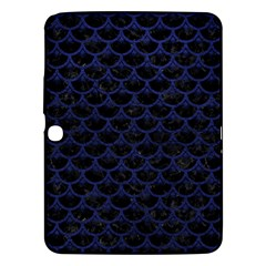 Scales3 Black Marble & Blue Leather Samsung Galaxy Tab 3 (10 1 ) P5200 Hardshell Case  by trendistuff