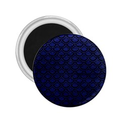 Scales2 Black Marble & Blue Leather (r) 2 25  Magnet by trendistuff
