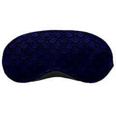Scales2 Black Marble & Blue Leather (r) Sleeping Mask by trendistuff