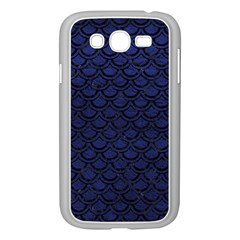 Scales2 Black Marble & Blue Leather (r) Samsung Galaxy Grand Duos I9082 Case (white) by trendistuff