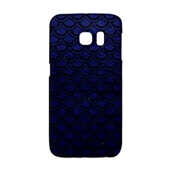 Scales2 Black Marble & Blue Leather (r) Samsung Galaxy S6 Edge Hardshell Case by trendistuff