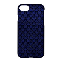 Scales2 Black Marble & Blue Leather (r) Apple Iphone 7 Hardshell Case by trendistuff