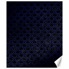 Scales2 Black Marble & Blue Leather Canvas 8  X 10  by trendistuff