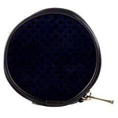 Scales2 Black Marble & Blue Leather Mini Makeup Bag by trendistuff