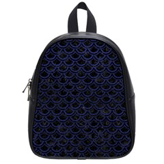 Scales2 Black Marble & Blue Leather School Bag (small) by trendistuff