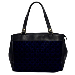 Scales2 Black Marble & Blue Leather Oversize Office Handbag by trendistuff