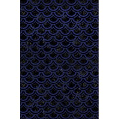 Scales2 Black Marble & Blue Leather 5 5  X 8 5  Notebook by trendistuff