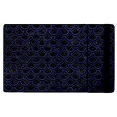 Scales2 Black Marble & Blue Leather Apple Ipad 3/4 Flip Case by trendistuff