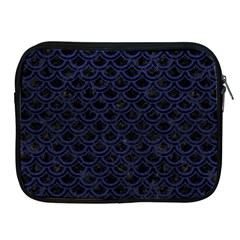 Scales2 Black Marble & Blue Leather Apple Ipad Zipper Case by trendistuff
