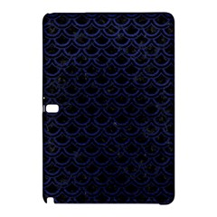 Scales2 Black Marble & Blue Leather Samsung Galaxy Tab Pro 12 2 Hardshell Case by trendistuff