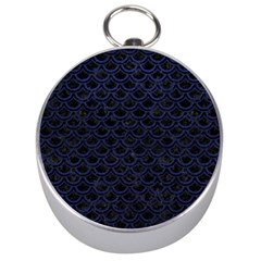 Scales2 Black Marble & Blue Leather Silver Compass by trendistuff