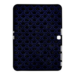Scales2 Black Marble & Blue Leather Samsung Galaxy Tab 4 (10 1 ) Hardshell Case  by trendistuff