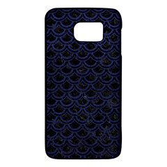 Scales2 Black Marble & Blue Leather Samsung Galaxy S6 Hardshell Case  by trendistuff