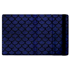 Scales1 Black Marble & Blue Leather (r) Apple Ipad 2 Flip Case by trendistuff