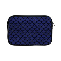 Scales1 Black Marble & Blue Leather (r) Apple Ipad Mini Zipper Case by trendistuff