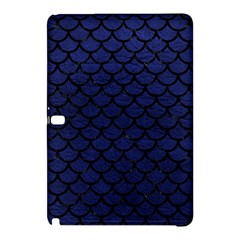 Scales1 Black Marble & Blue Leather (r) Samsung Galaxy Tab Pro 12 2 Hardshell Case by trendistuff