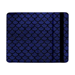 Scales1 Black Marble & Blue Leather (r) Samsung Galaxy Tab Pro 8 4  Flip Case by trendistuff