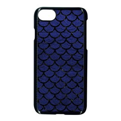Scales1 Black Marble & Blue Leather (r) Apple Iphone 7 Seamless Case (black) by trendistuff