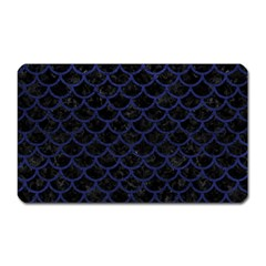 Scales1 Black Marble & Blue Leather Magnet (rectangular) by trendistuff